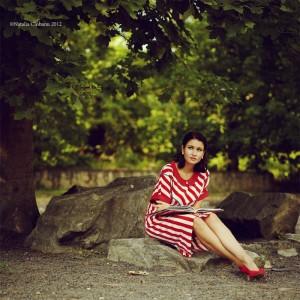 платье, летнее, полоска
