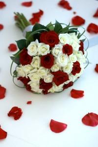 свадебный, букет, невеста
