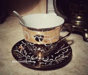чашка, чайная, блюдце,