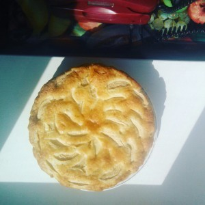 яблочный, пирог, манка,