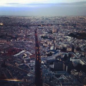 Tour Montparnasse, Париж, ночной,